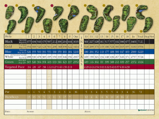 Avery Ranch Golf Scorecard